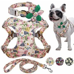 Dog Harness Vest Leash Collar Set